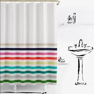Kate Spade Candy Strips Shower Curtain
